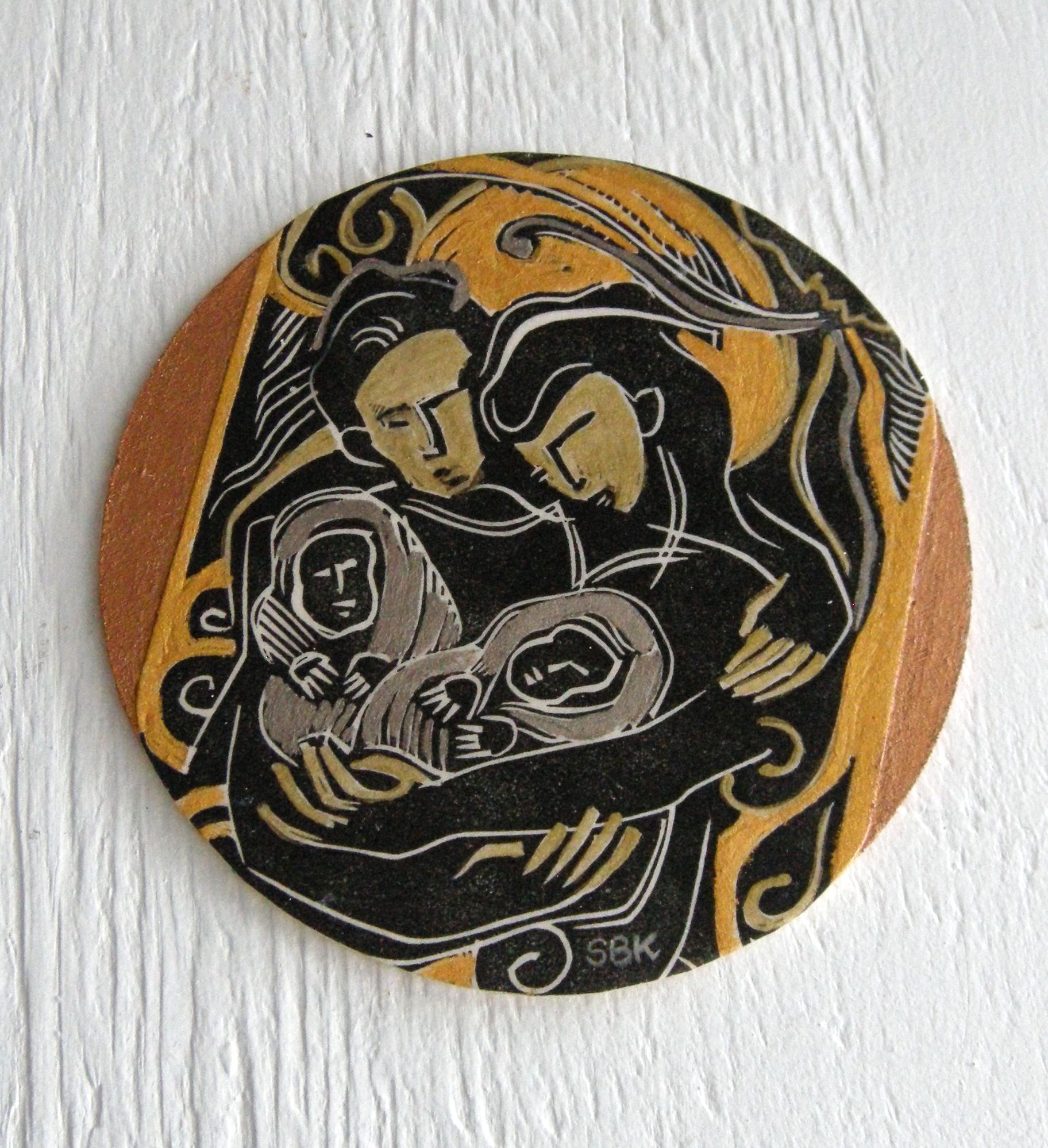 Woodcut Print Coin 3, Shauna Khalily